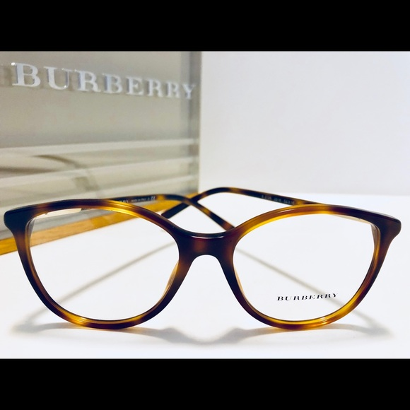 3a6565ef4e21 Burberry Eyeglasses Light Brown Havana 52mm New